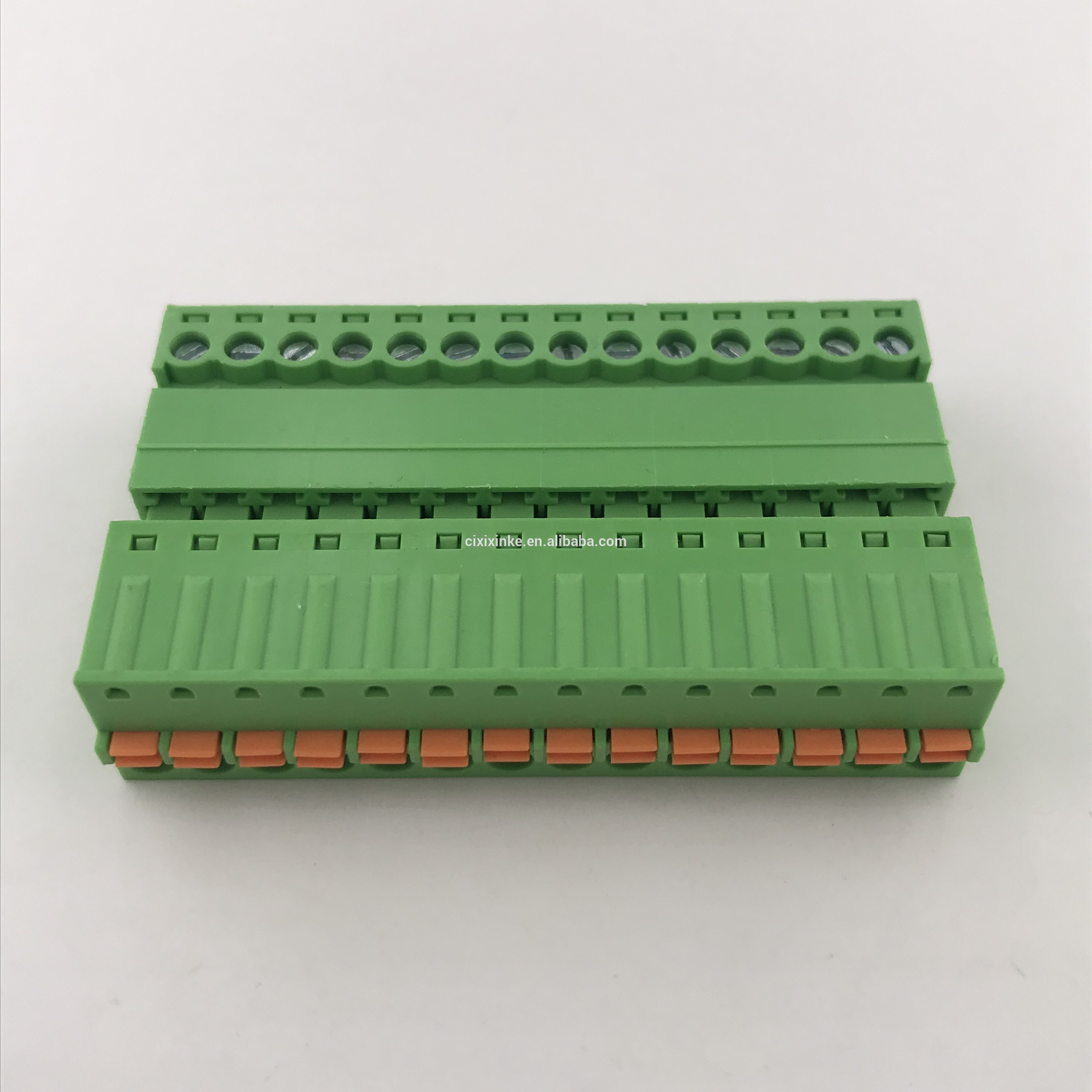 14pin male to female pluggable spring terminal block