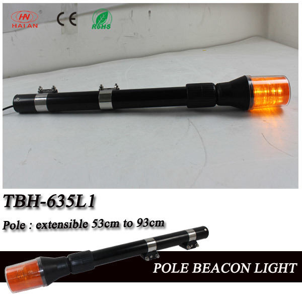 Blue LED Motorcycle Pole Beacon for Rear Warning for Police in DC12V, Motorbike Alarm