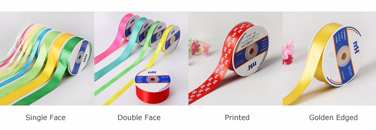 Assorted Colors 3/8 Inch Double Faced Satin Ribbon Tape for Decoration