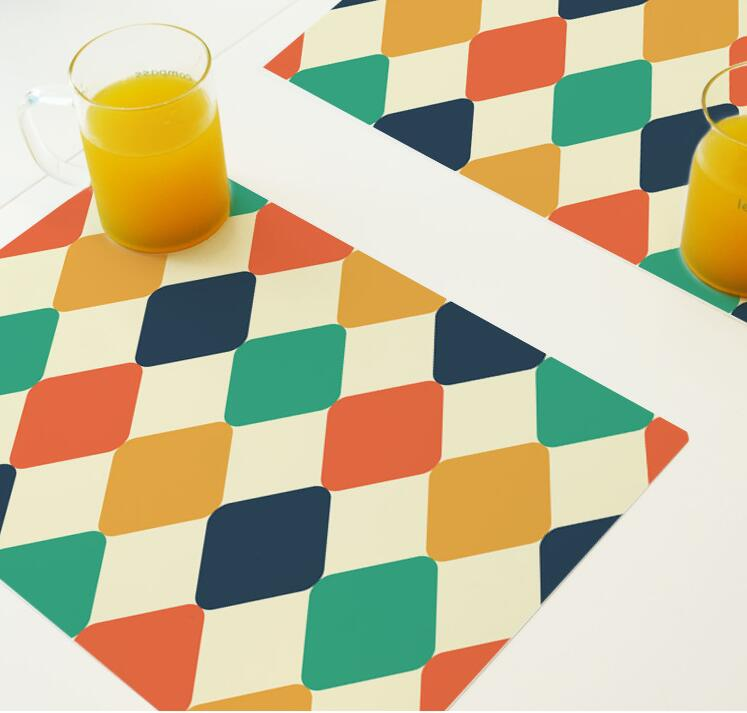 New Design Customized Full Color Printing Colorful Plastic Placemat