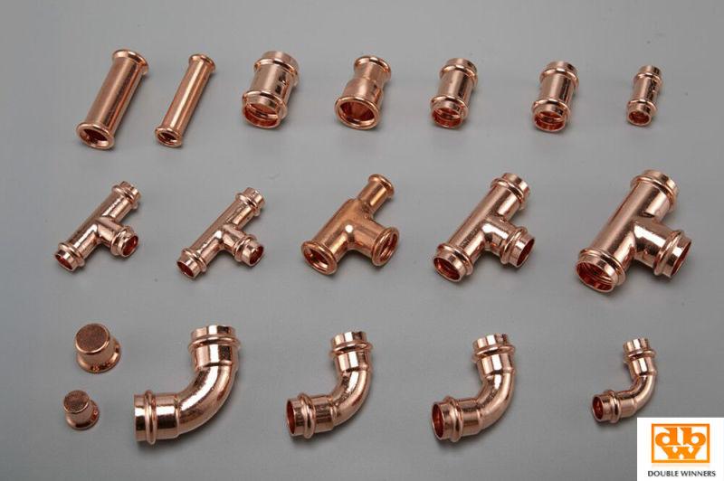 Copper Press Fitting Contour V Bogen 90 15 mm
