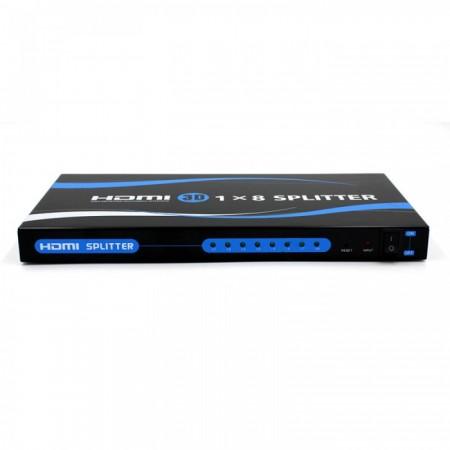 to 15m Mini 1X8 HDMI Splitter