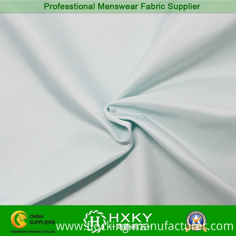 290t Ice Color Imitation Memory Polyester Fabric for Down Coat