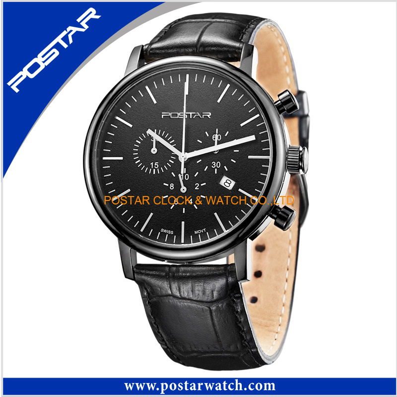 Black Stainless Steel Chronograph Multifunction Gift Watch