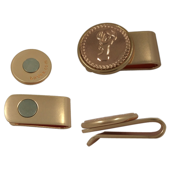 High Quality Brass Metal Golf Hat Clips with Magnets