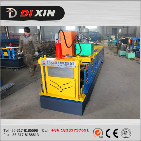 Ce Proved Aluminium Ridge Cap Cold Roll Forming Machine Sheet Metal Machine