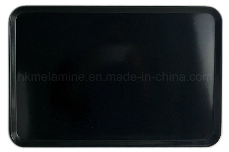 16.5inch Black Rectangle Melamine Tray (TR073)