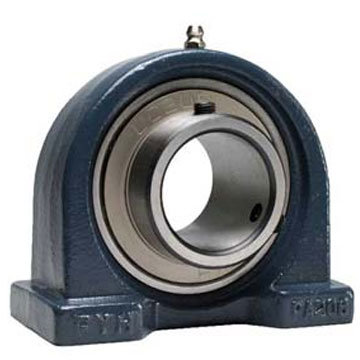 2 Bolts Ucpa211-35 Cast Housed Pillow Block Bearing Unit, 2-3/16in, Housing PA211 with Insert Ball Bearing UC211-35