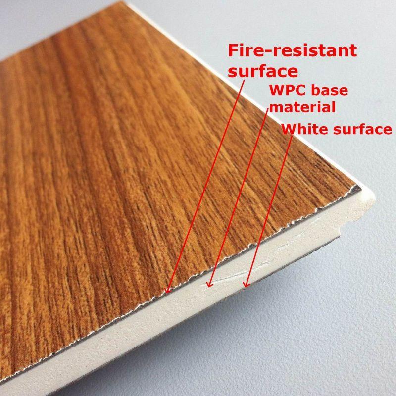 Good Quality WPC Laminated Flooring Fire-Resistant WPC Laminate Flooring Interior Decorative Flooring