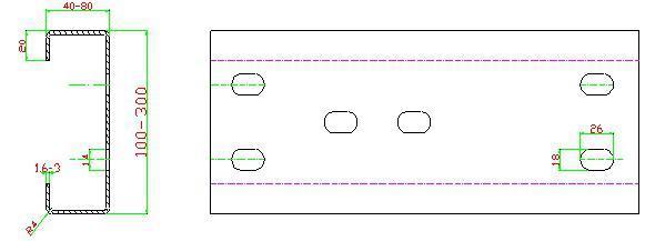 C&Z Purlin Interchangeable Roll Forming Machine