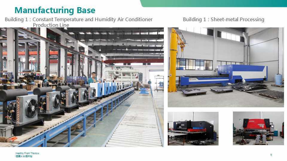 Air Treatment Fresh Air Ventilator Unit with Crossflow Heat Exchanger