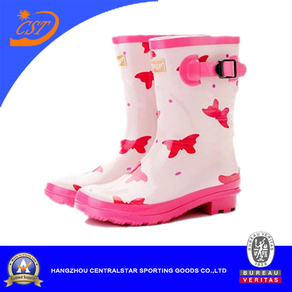 Hot Sales Cute Girls Rubber Rain Boots