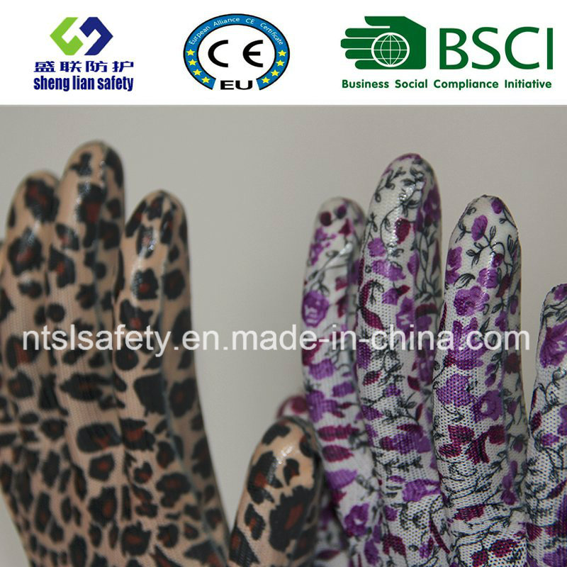 Nitrile Coated Garden Glove Safety Glove