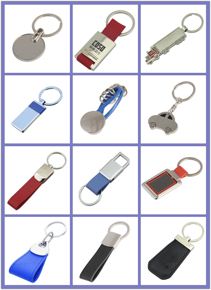 Promotion Las Vegas Gift Metal Play Cards Key Chain (F1201)