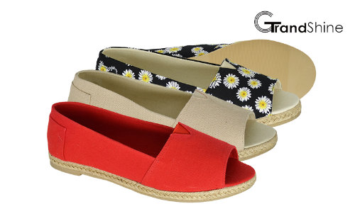 Women's Casual Espadrilles Open Toe Flat Shoes