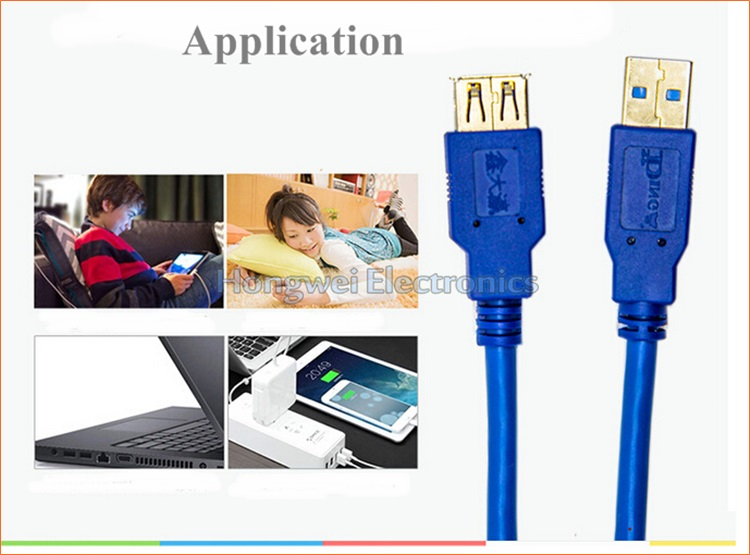 1.5 M 5gbps Pure Copper Male USB3.0 to Female USB 3.0 Extension Data USB Cable