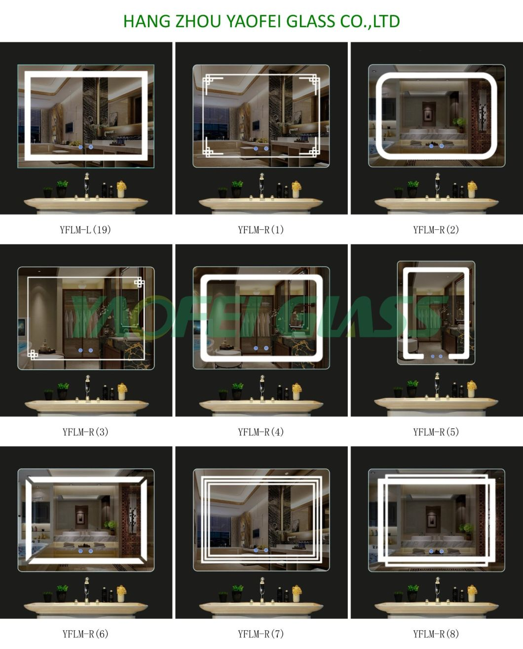 Modern Home Hotel Lighted Smart Bathroom LED Mirror