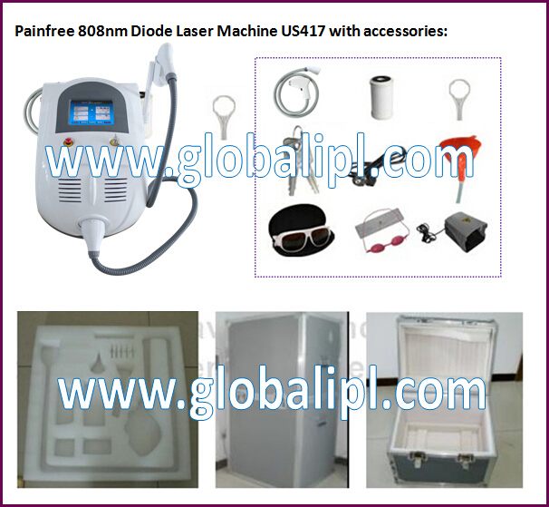 Permanent Painfree Hair Removal Machine 808nm Diode Laser