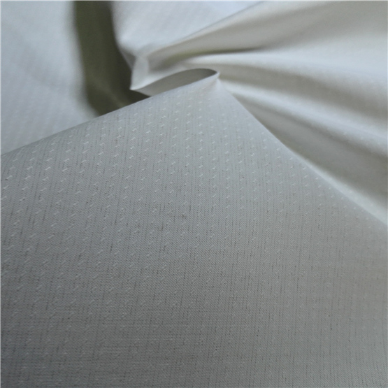Water & Wind-Resistant Anti-Static Sportswear Woven Peach Skin 100% Dotted Jacquard Polyester Fabric Grey Fabric Grey Cloth (E084FD)
