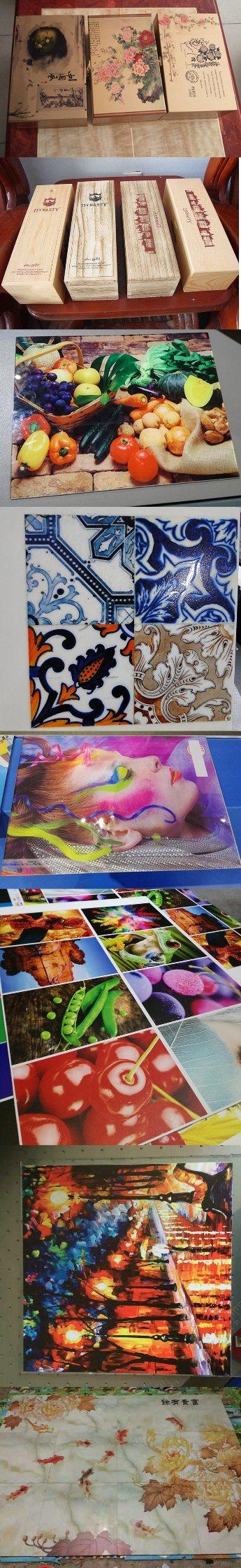 Large Format UV Flatbed Printer for Ceramic Tile/Glass/Metal/Wood/Aluminum Plastic Board/Foam Board/T-Shirt
