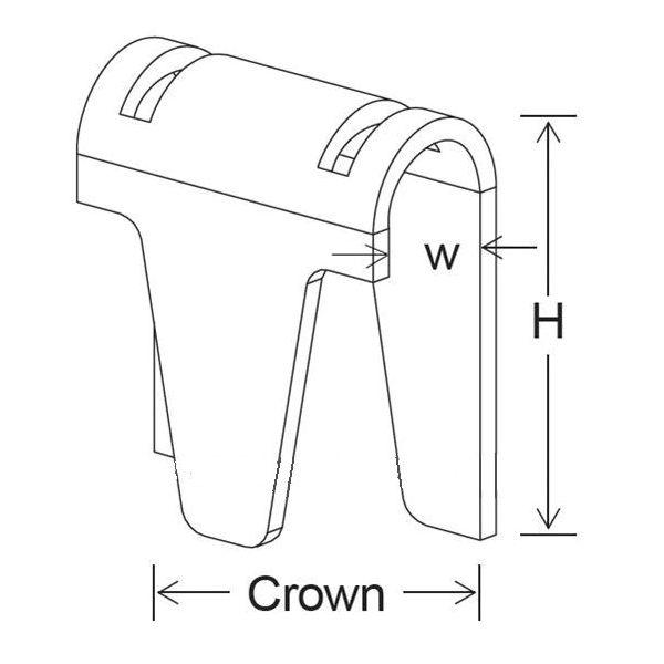 M87 Series Strip Mattress Clips