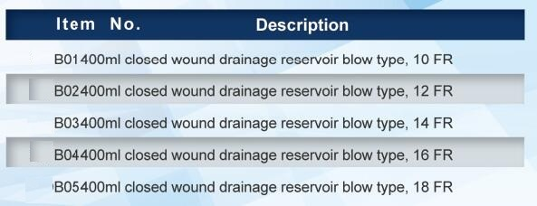Different Size Wound Drainage System for Sale