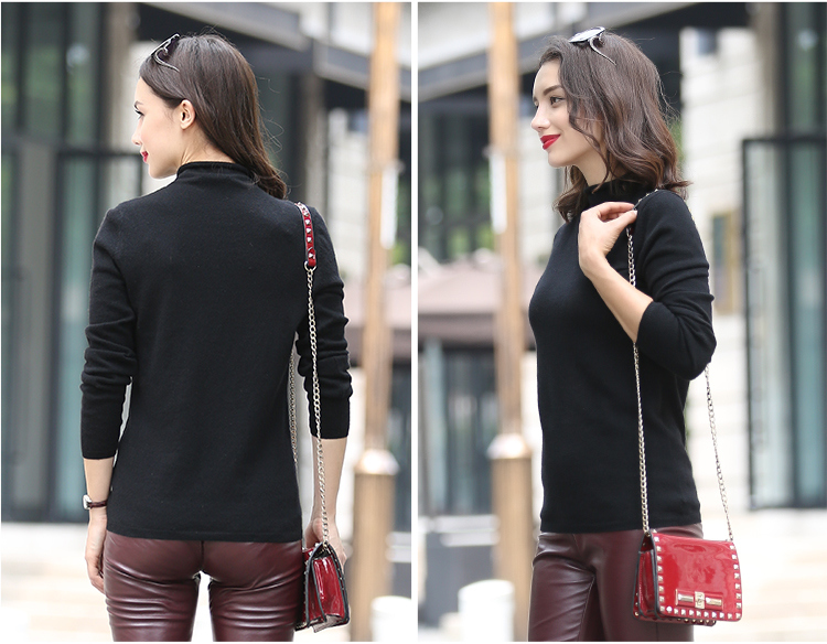 100% Cashmere Sweater Lady's Knitted Apparel for Winter