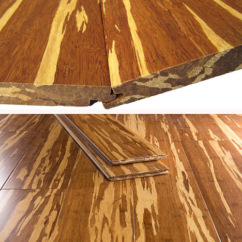 Tiger Strand Woven Bamboo Flooring UV Lacquer