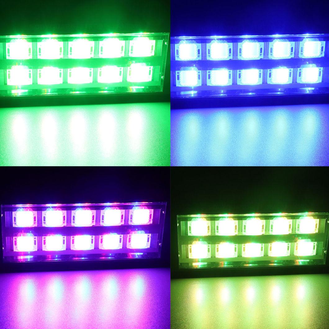 200W Double Row Sound/Auto LED RGB DJ Bar Stage Strobe Light