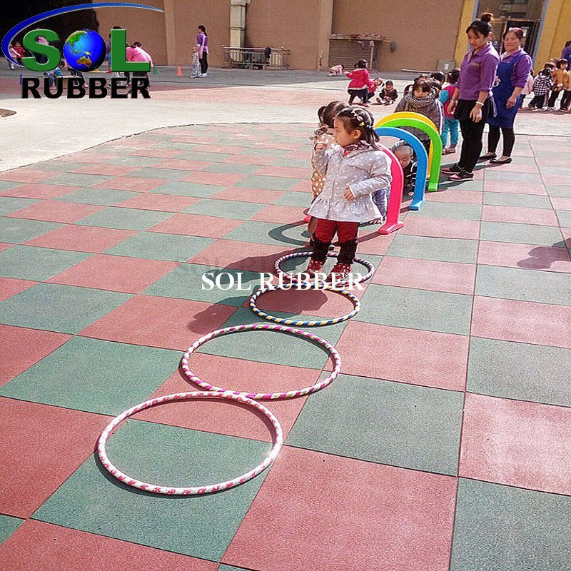 Premium Recycled Rubber Gym Tile Flooring
