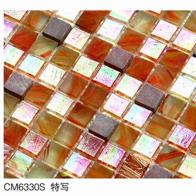Mosaic Red Color Amber Natural Stone