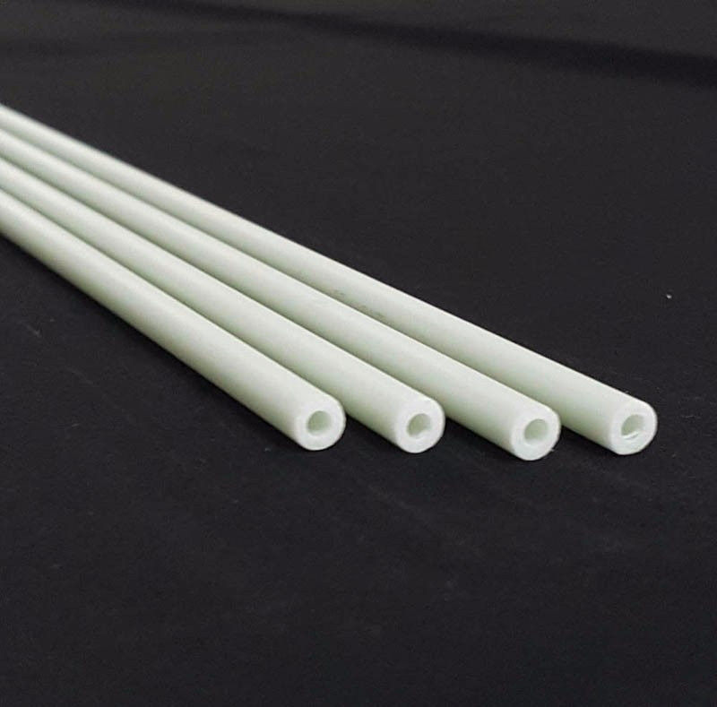 Fiberglass tube with printing