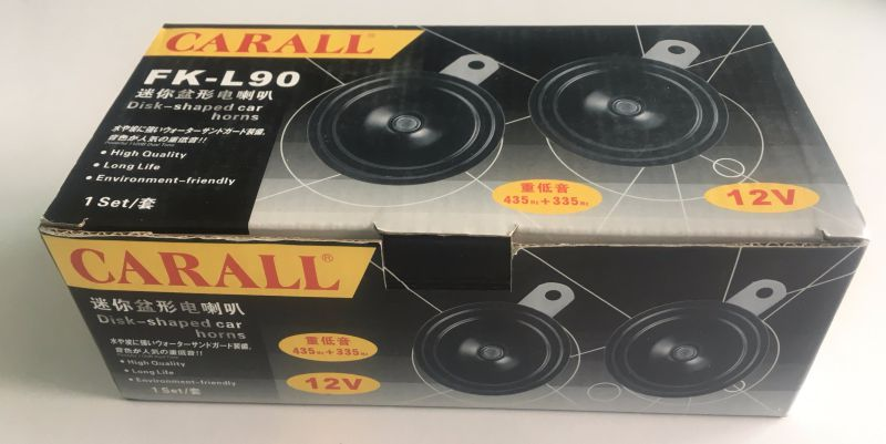 Carall L90 Automechanika Bell Alarm Brand New Twin Pack Power Magic Voice Ring Tone DC 12V Auto Parts E9 Speaker Disc Car Horn