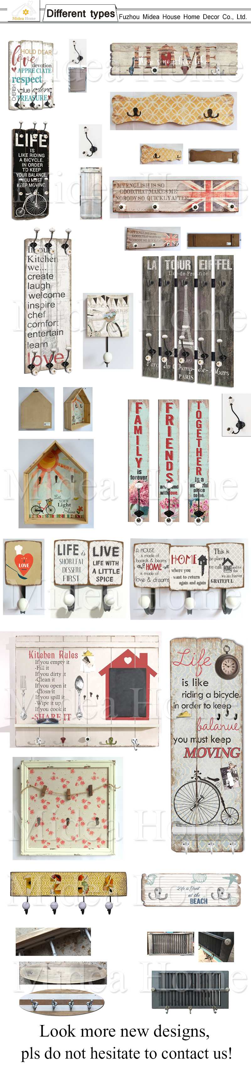 Distressed Hanging Wooden Key Rack