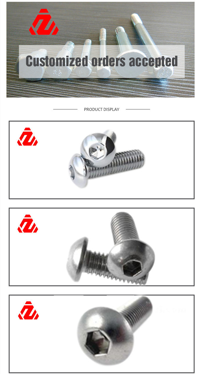 Leite Large Head Carriage Bolts Double Threaded