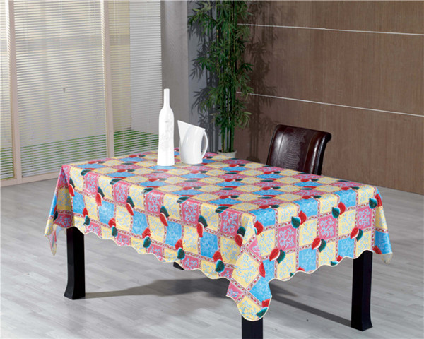 High Quality White PVC Tablecloth Opeque Printed Wholesale