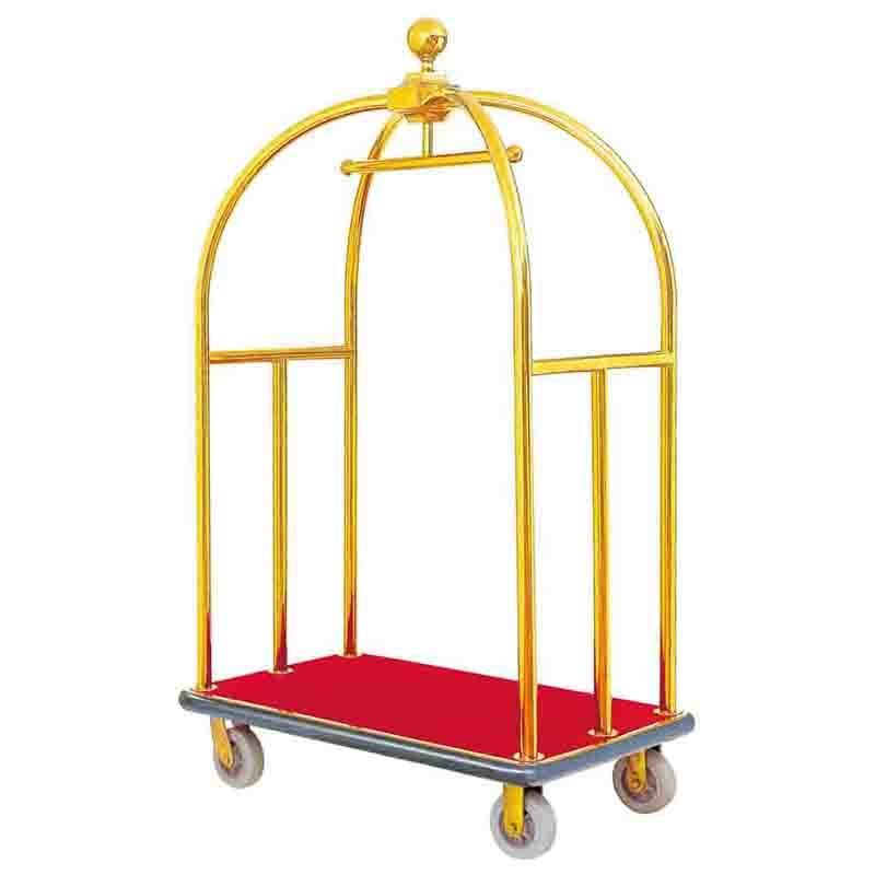 Stainless steel Hotel Luxury Trolley 8 Pneumatic Wheels