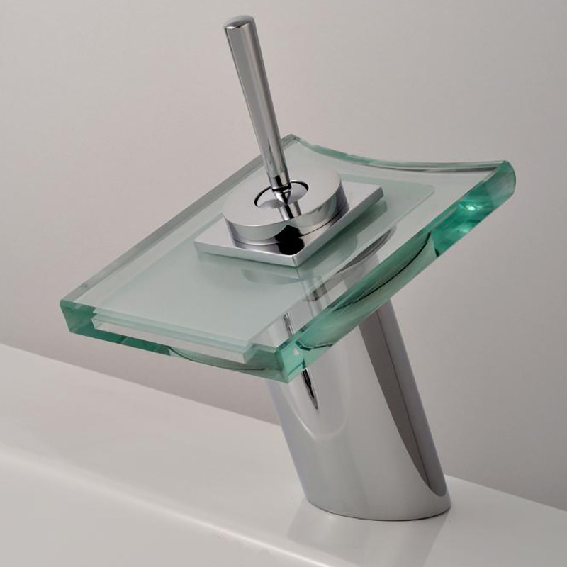 Glass Waterfall Bathroom Faucet (801F)