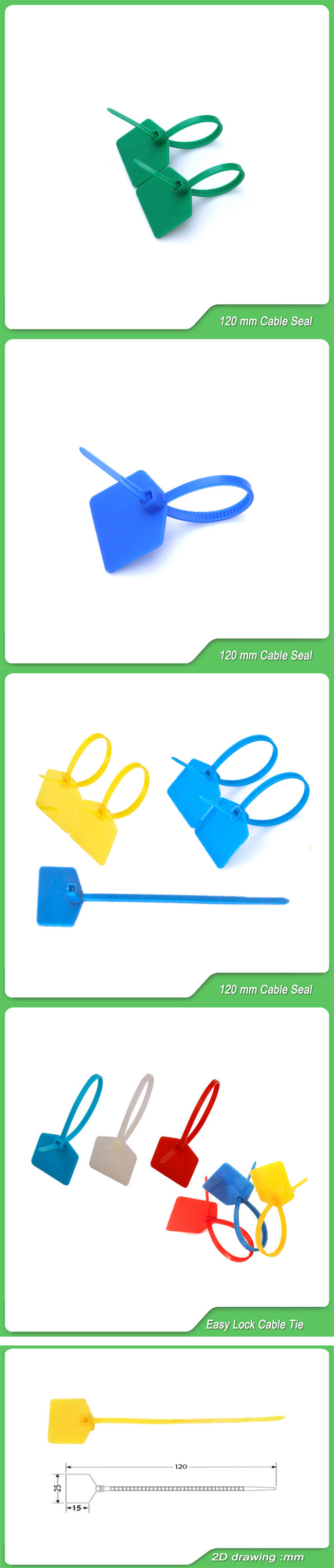 Zipper Pull Plastic Security Seal (JY-120)