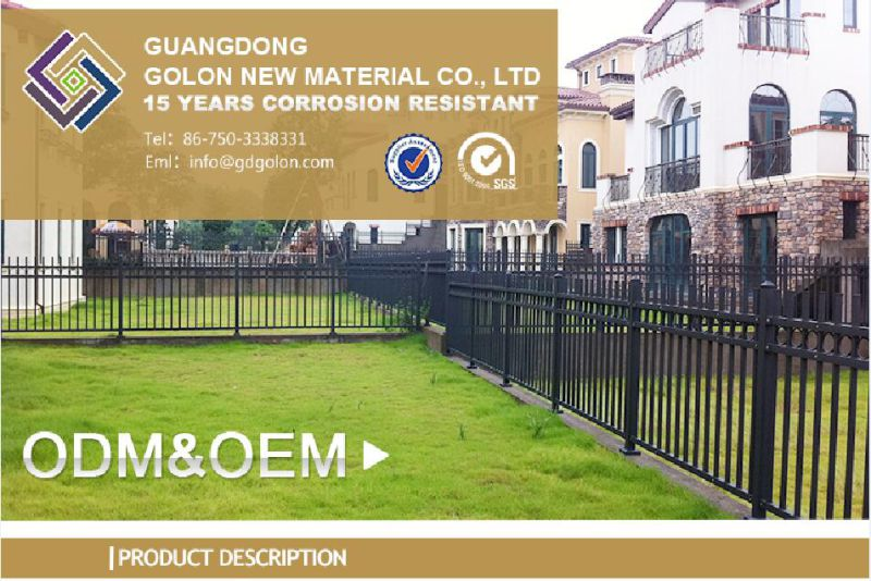 Aluminum Wrought Iron Metal Steel Fence Decorative Backyard Garden Fence