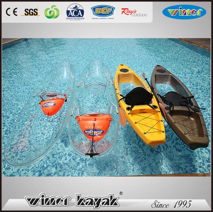 Full Transparent Double/Single Crystal Kayak