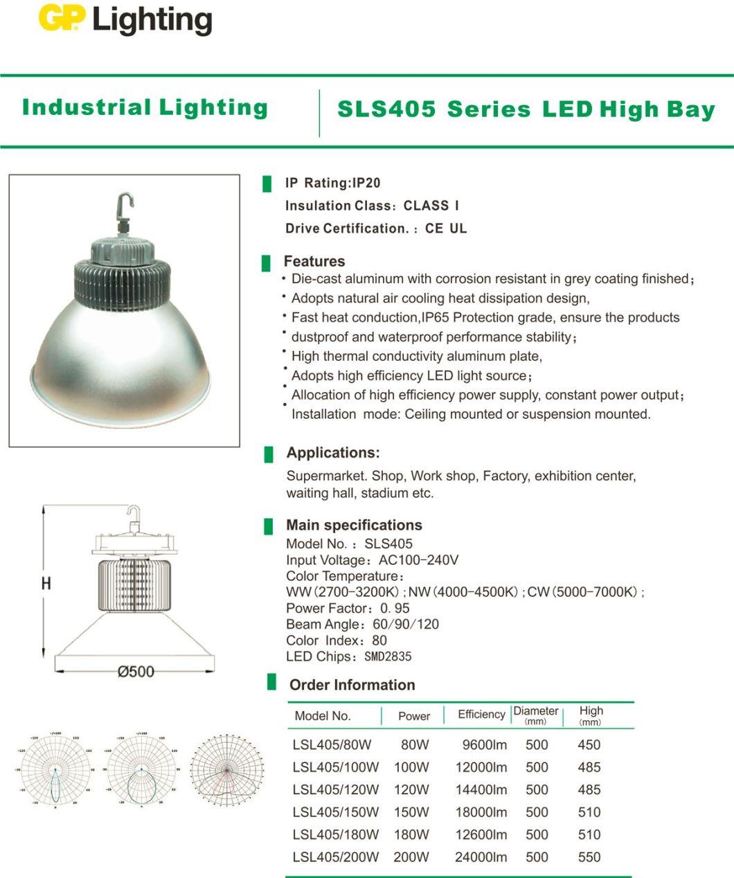200W High Energy LED Highbay Light for Industrial/Factory/Warehouse Lighting (SLS405)