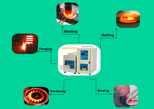 High Frequency Induction Heating Machine for Brazing Short-Circuit Rings