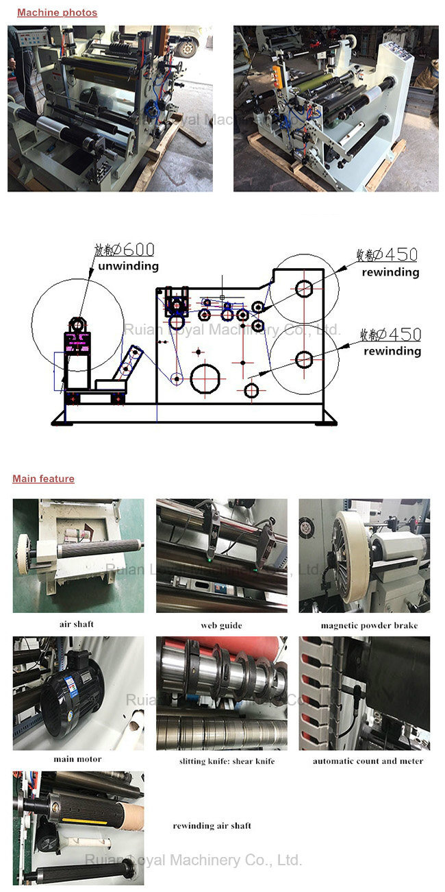 Film Automatic Rewinding and Slitting Machine
