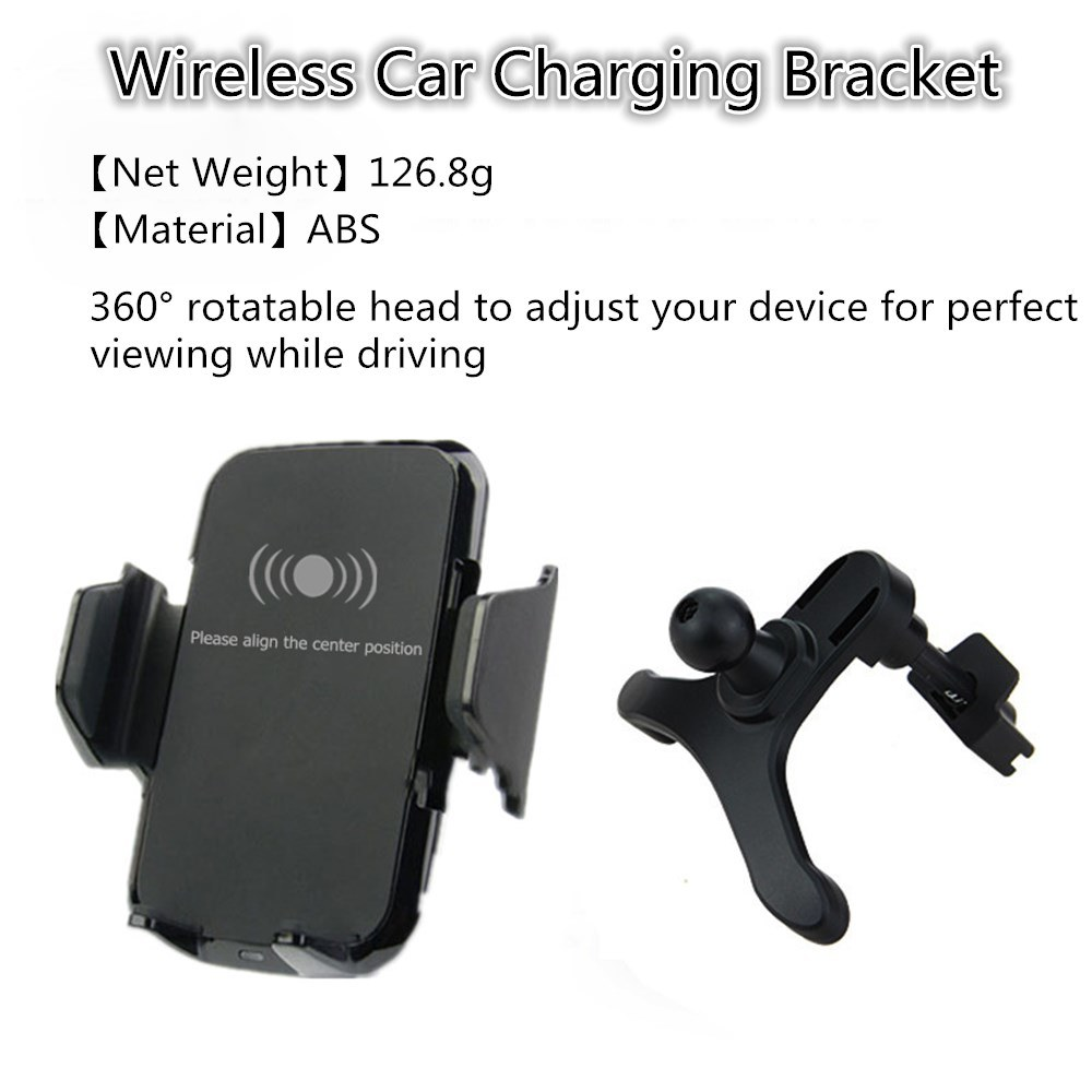 Qi Wireless Car Charger Fast Charging Station/Holder/Mount (W8)
