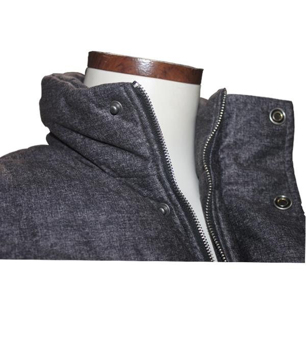 Latest Design High Quality Woolen Fabric Dark Grey Men's Waistcoat Winter Sweater Vest