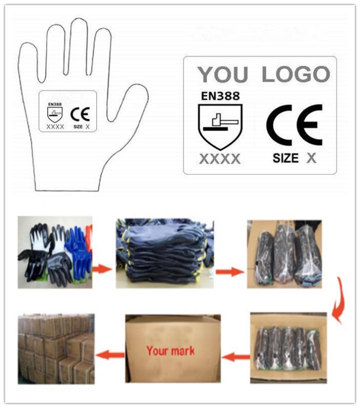 13G Polyester Nylon PU Coated Glove