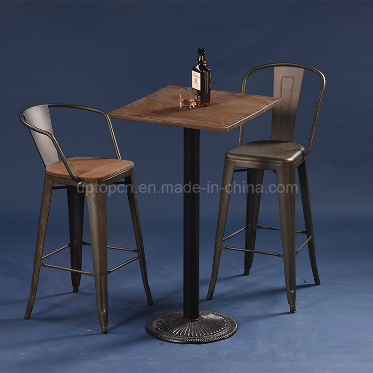 Vintage Style Industrial Metal Bistro Bar Table (SP-BT702)