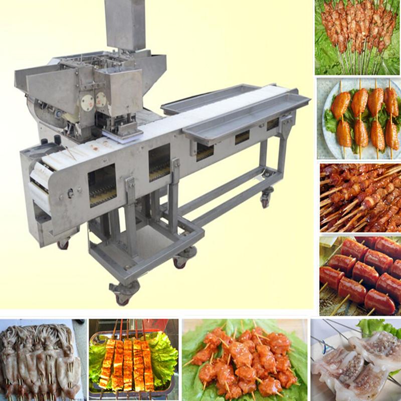 High Efficient Electric Automatic Meat Skewer Machine BBQ Skewer Machine