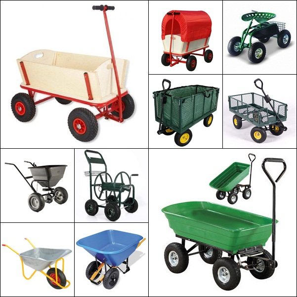 Large Plastic Crate Wagon Cart